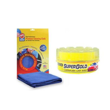 Super Gold Paste Wax PW-400 (230 gm)+Microfiber Cloth