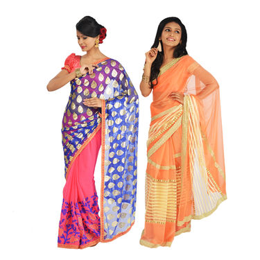 Pack of 2 Designer Sarees by Zuri (DES9)