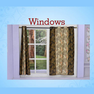 Pack of 2 Printed Door Curtains
