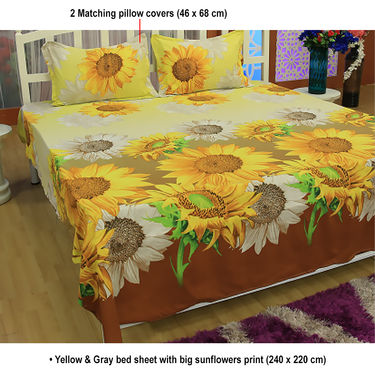 Pack of 3 Floral Bedsheets (3DBS1)