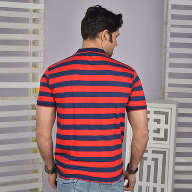Pack of 4 Stripes Collar Neck T-Shirts for Men (4ST2)