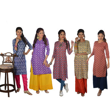 Pack of 5 Cotton Kurtis (5CK2)