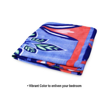 Pack of 5 Designer Printed Double Fleece AC Blanket-CA_1207