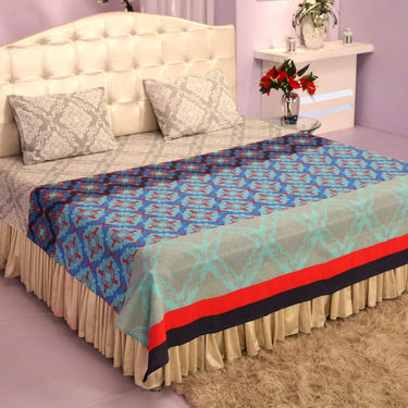 Summer Collection - 5 Double Bedsheets + 10 Pillow Covers (5BS26)