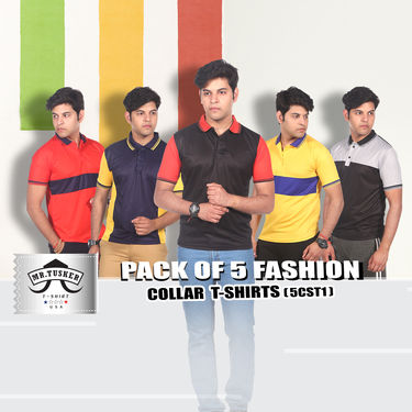Pack of 5 Fashion Collar T-shirts (5CST1)