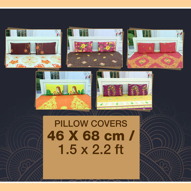 Pack of 5 Glaze Cotton Jewel Bedsheet Set (5BS55)