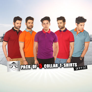 Pack of 5 Collar T-shirts (5PT2)