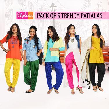 Pack of 5 Trendy Patialas (5P1)