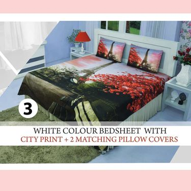 Pack of 5 Ultra 3D Bedsheet Sets (5BS49)