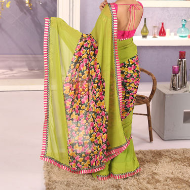 Pack of 6 Georgette Sarees with Heavy Border by Pakhi (6GBS1)