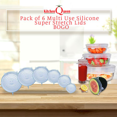 Pack of 6 Multi Use Silicone Super Stretch Lids