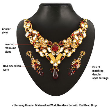 Parasmani 1 Gram Gold Plated 14 Jewellery Sets