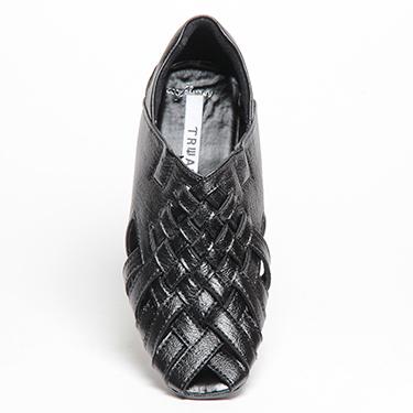 Pede Milan Faux Leather Sandal - Black-4372