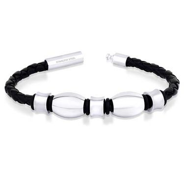 Peora 316L Beads & Leather Bracelet