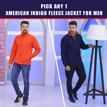 Pick Any 1 American Indigo Fleece Jacket for Men (1FJ1)