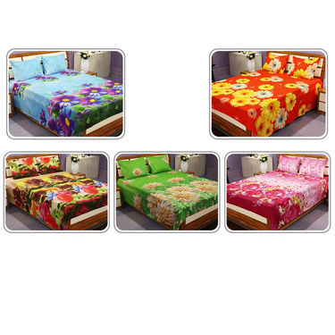 Pick Any One 3D Floral Bedsheet