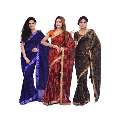 Pick Any One Jhilmil Saree by Zuri (JMS1)