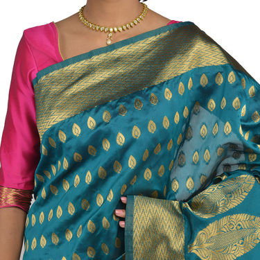 Pick Any One Kanjeevaram Silk Saree by Kanooda Prints (KSS3)