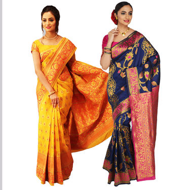 Pick Any One Kanjeevaram Silk Saree by Zuri (PES1)