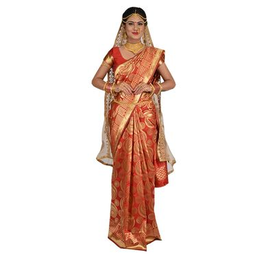 Pick Any One Silk Saree with Golden Zari Work by Zuri (KSS16)
