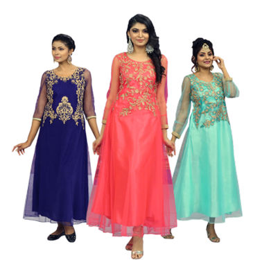Pick Any 1 Designer Embroidered Gown for Women by Zuri (SSG3)