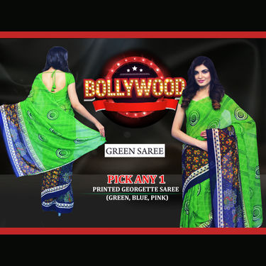 Pick Any 1 Printed Georgette Saree by Pakhi (1G1)