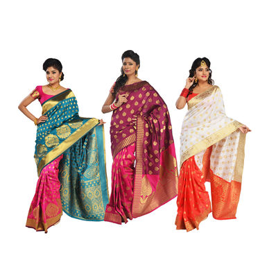 Pick Any One Kanjeevaram Silk Saree by Zuri (KSS8)