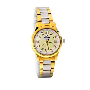 Platinum & Gold Finish Ladies Watch