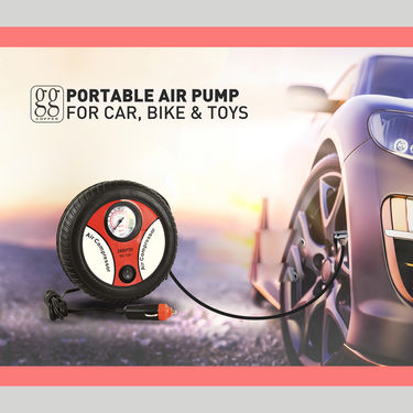 Portable Air Compressor Pump for Car, Bike & Ball