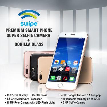 Swipe Premium Smart Phone (Super Selfie Camera + Gorilla Glass)