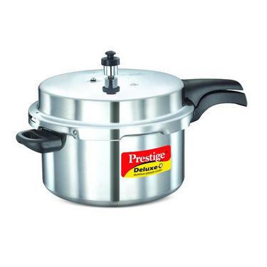 Prestige Deluxe Plus Aluminium Pressure Cooker 7.5 Ltr (Induction Based)