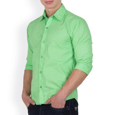 Pack of 2 Incynk Plain Cotton Shirt_qsc53 - Green & Sky Blue