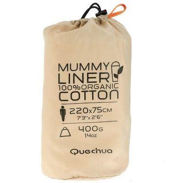 Quechua Mummy Cotton Liner Hiking Sleeping Bag Size - L