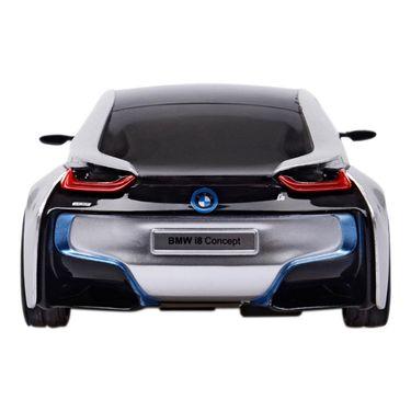 BMW i8 Concept 1:24 Remote Control Toy Car Model - Silver