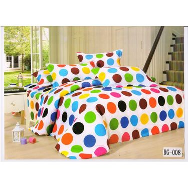 4D Printed  Double Bed Sheet With 2 Pillow Cover- RG-008
