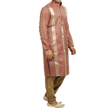 Runako Silk Full Sleeves Kurta Pyjama_RK4062 - Salmon
