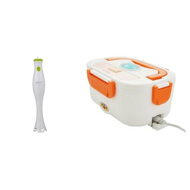 Combo Of Detak Electric Lunch Box With Hand Blender