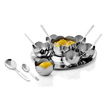 Combo Of 15 Pcs Flower Pudding Set & Sandwich Maker