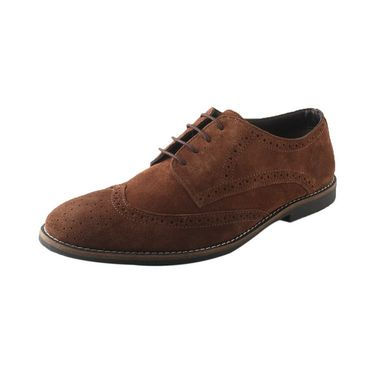 Branded Suede Leather Casual Shoes  RM-BG-001  -Brown