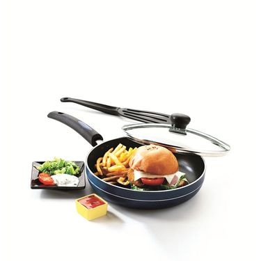 RECON MasterChef Non Stick Fry Pan with Glass Lid 255mm_RMGFP255