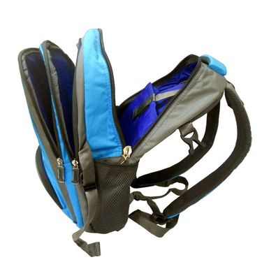 Donex Stylish Colorful Light weight Laptop Backpack in Blue & Grey_RSC00880