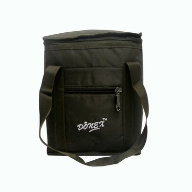 Donex Small Padded Polyster Lunch Bag Brown_RSC00969