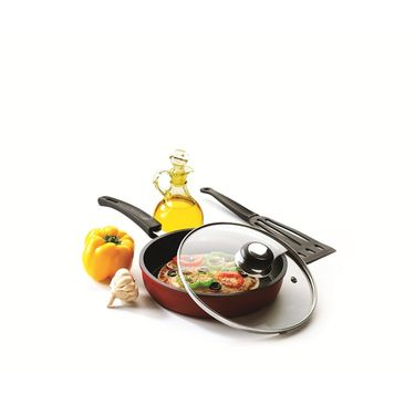RECON SuperChef Non Stick Fry Pan with Glass Lid 240mm_RSCFP240