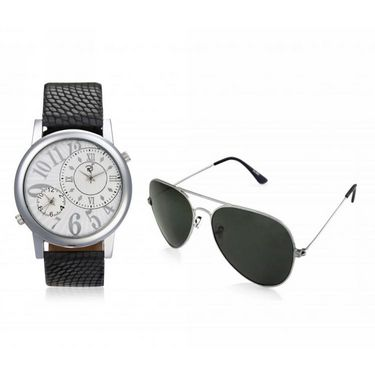 combo of Rico Sordi Analog Wrist Watch + Sunglasses_RSD34_WSG