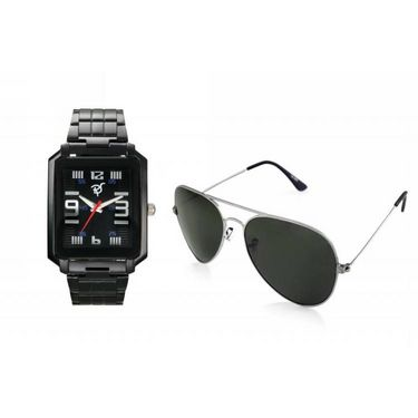 Combo of Rico Sordi Analog Wrist Watch + Sunglasses_RSD37_WSG