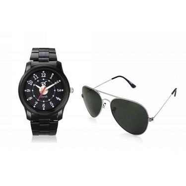 Combo of Rico Sordi Analog Wrist Watch + Sunglasses_RSD38_WSG