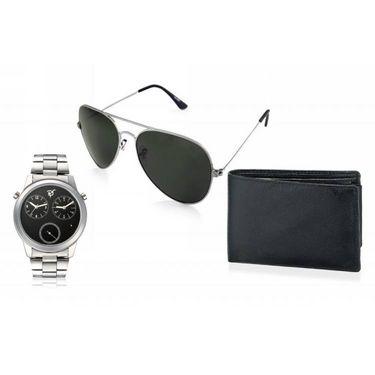 Combo of Rico Sordi Analog Wrist Watch + Sunglasses + Wallet_RSD46_WSGW