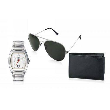 Combo of Rico Sordi Analog Wrist Watch + Sunglasses + Wallet_RSD47_WSGW