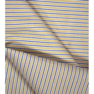 Raymond Cotton Shirt Material For Men_RYMD_SHRT_1014_LS_04 - Blue & Yellow