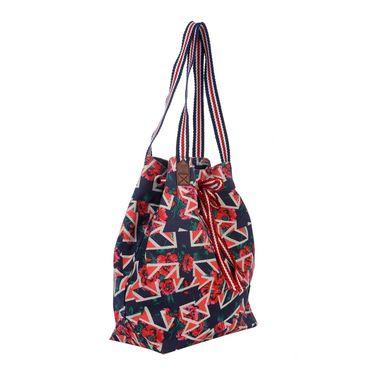 Be For Bag Canvas Cloth HandBag Blue -Rachel
